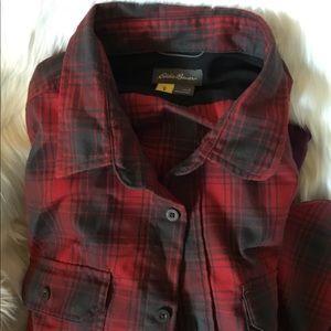 Eddie Bauer Men's Flannel Shirt Large
